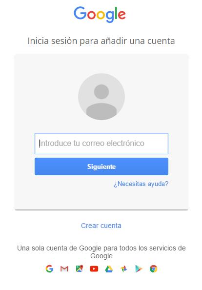 Gmail y Servicios Google